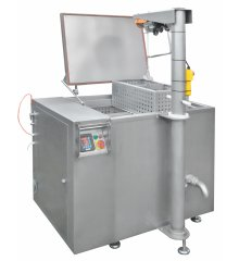 Water bath pasteuriser (in-bottle pasteuriser), 600 litres with a lift