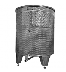 Open wine fermentation tank with coolig jacket